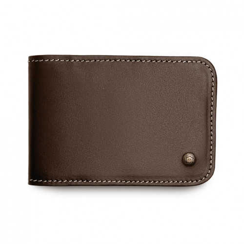 Card Holder - Brown - White