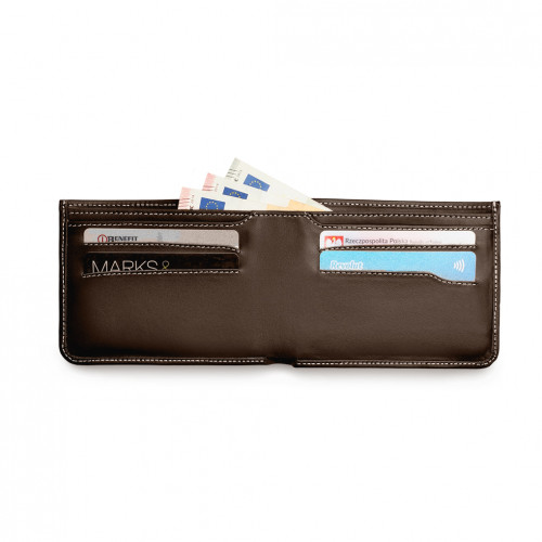 Urban Wallet - Brąz - Biały